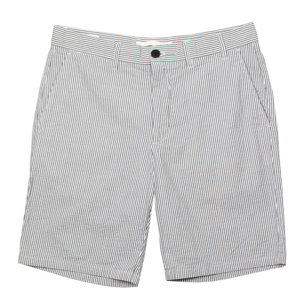 2f19849f997 Norse Projects - Aros Seersucker Shorts - Navy Stripe