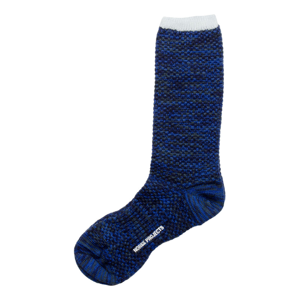 Norse Projects - Bjarki Blend Socks - Cornflower Blue