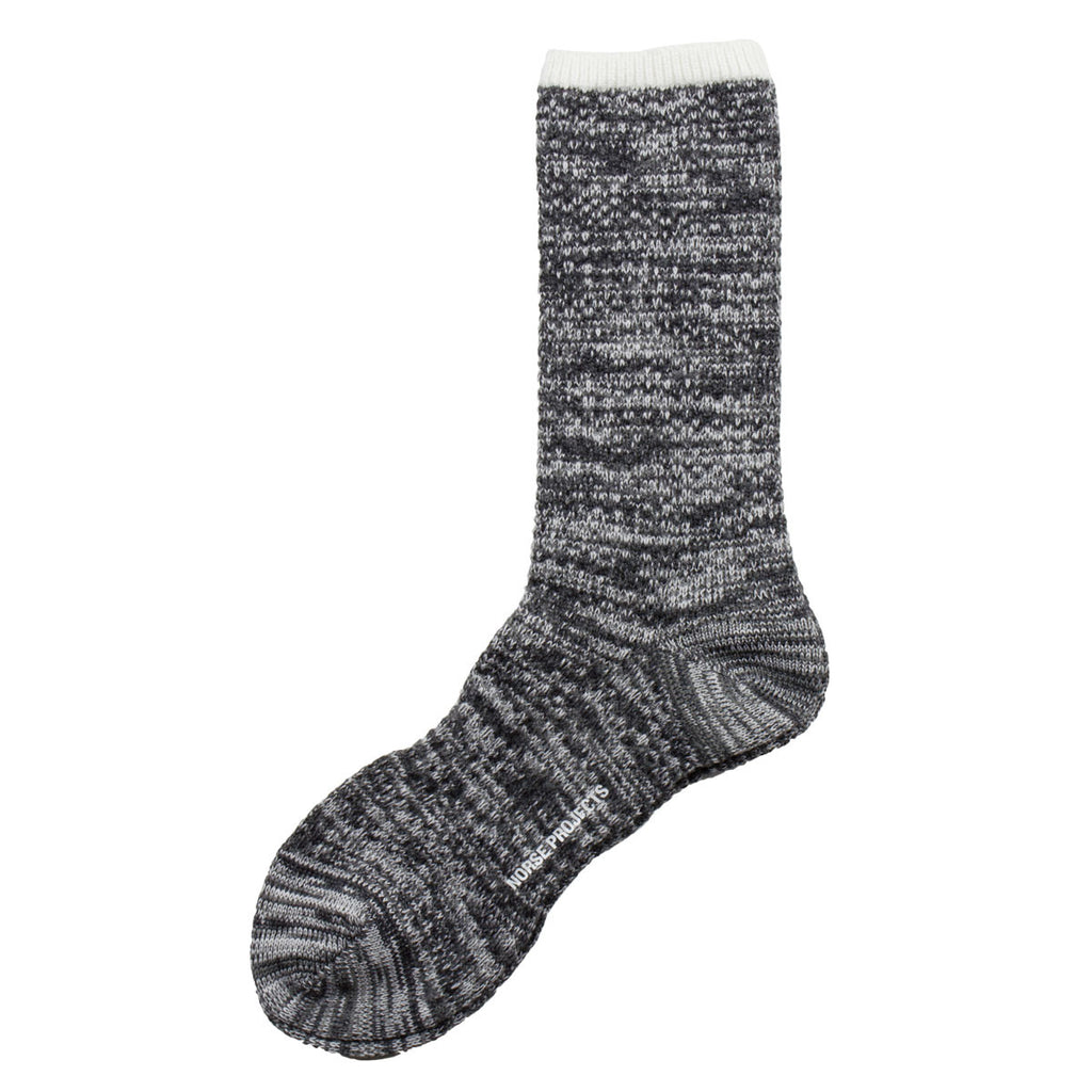Norse Projects - Bjarki Blend Socks - Mouse Grey