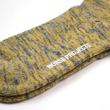 Norse Projects - Bjarki Blend Socks - Mustard Yellow