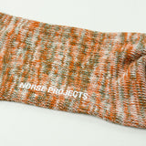 Norse Projects - Bjarki Blend Socks - Oxide Orange