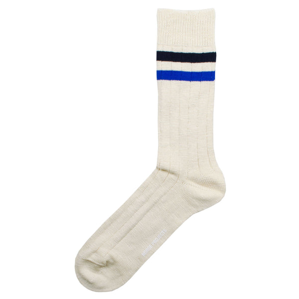 Norse Projects - Bjarki Slub Stripe Socks - Twilight Blue