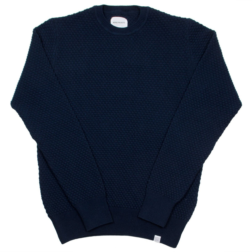 Norse Projects - Bjorn Bubble Sweater - Dark Navy