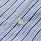 Norse Projects - Carsten Poplin Shirt - Blue Mix Stripe