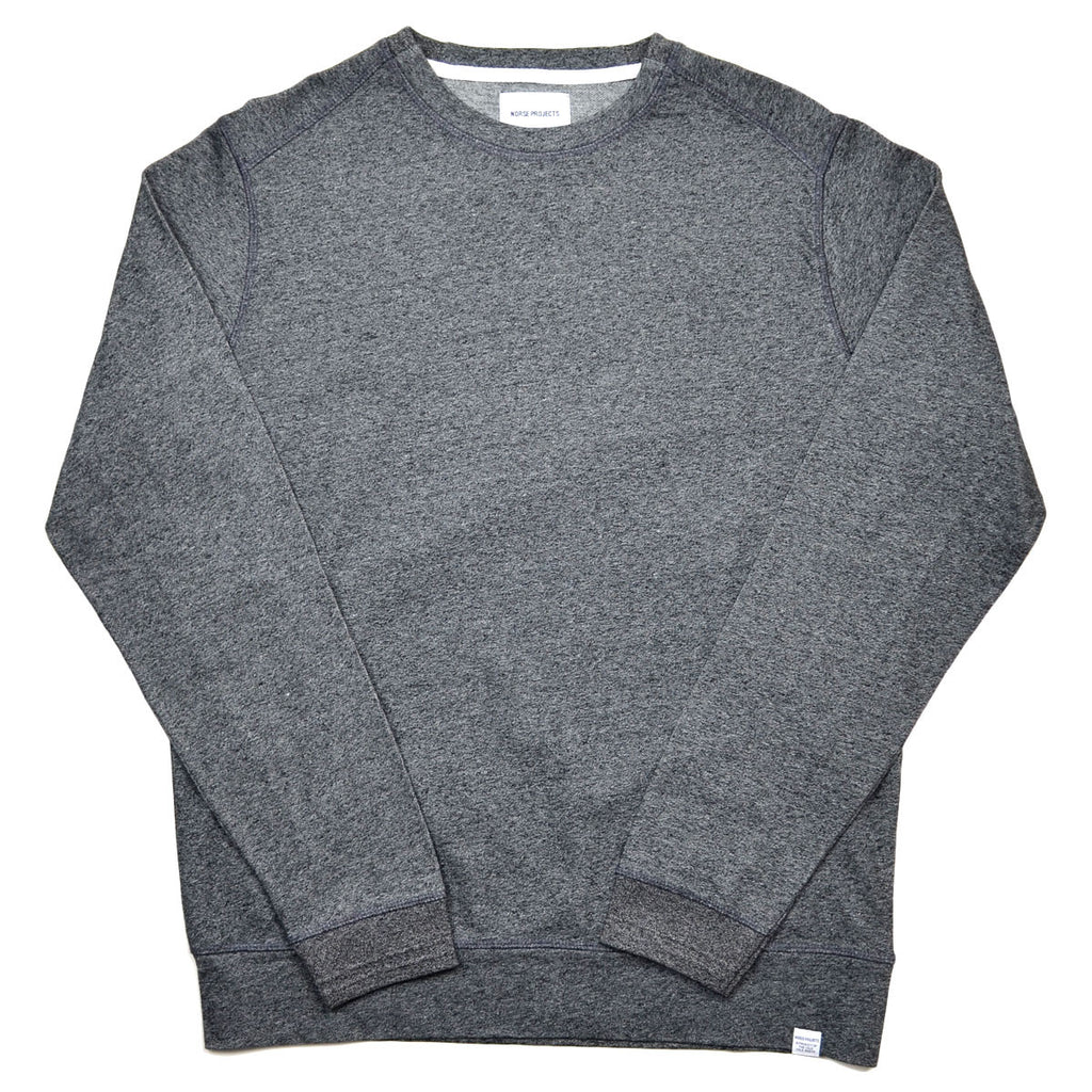 Norse Projects - David Mercerised Sweatshirt - Charcoal