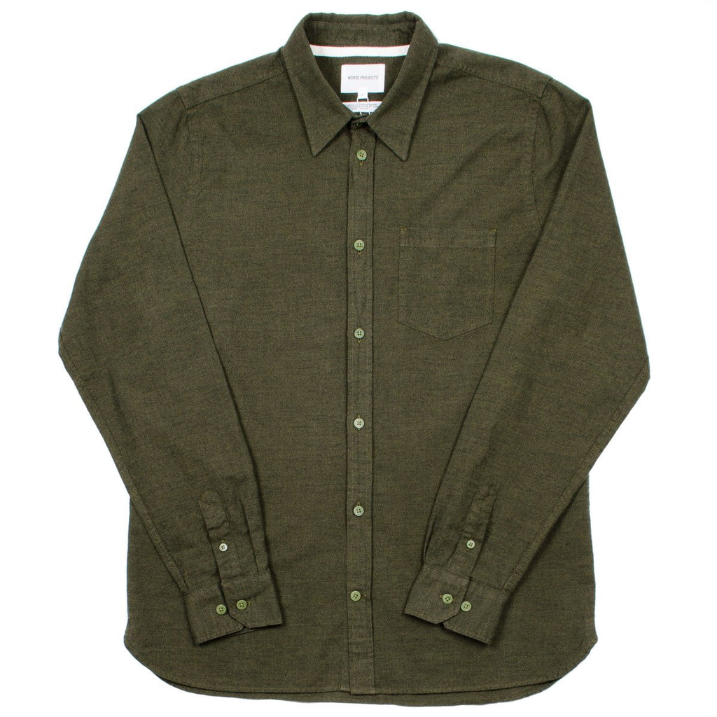 Norse Projects - Hans Mouliné Shirt - Dried Olive