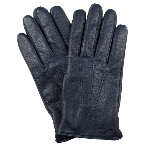 Norse Projects x Hestra - Salen Leather Gloves - Navy
