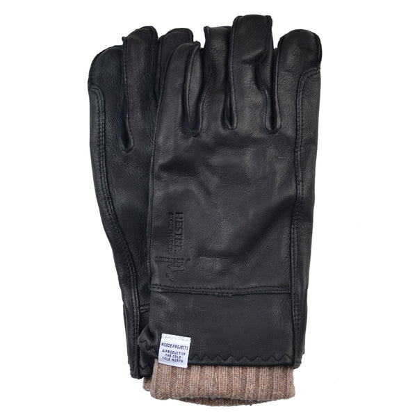 Norse Projects x Hestra - Ivar Leather Gloves - Black