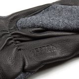 Norse Projects x Hestra - Svante Wool / Leather Gloves - Charcoal