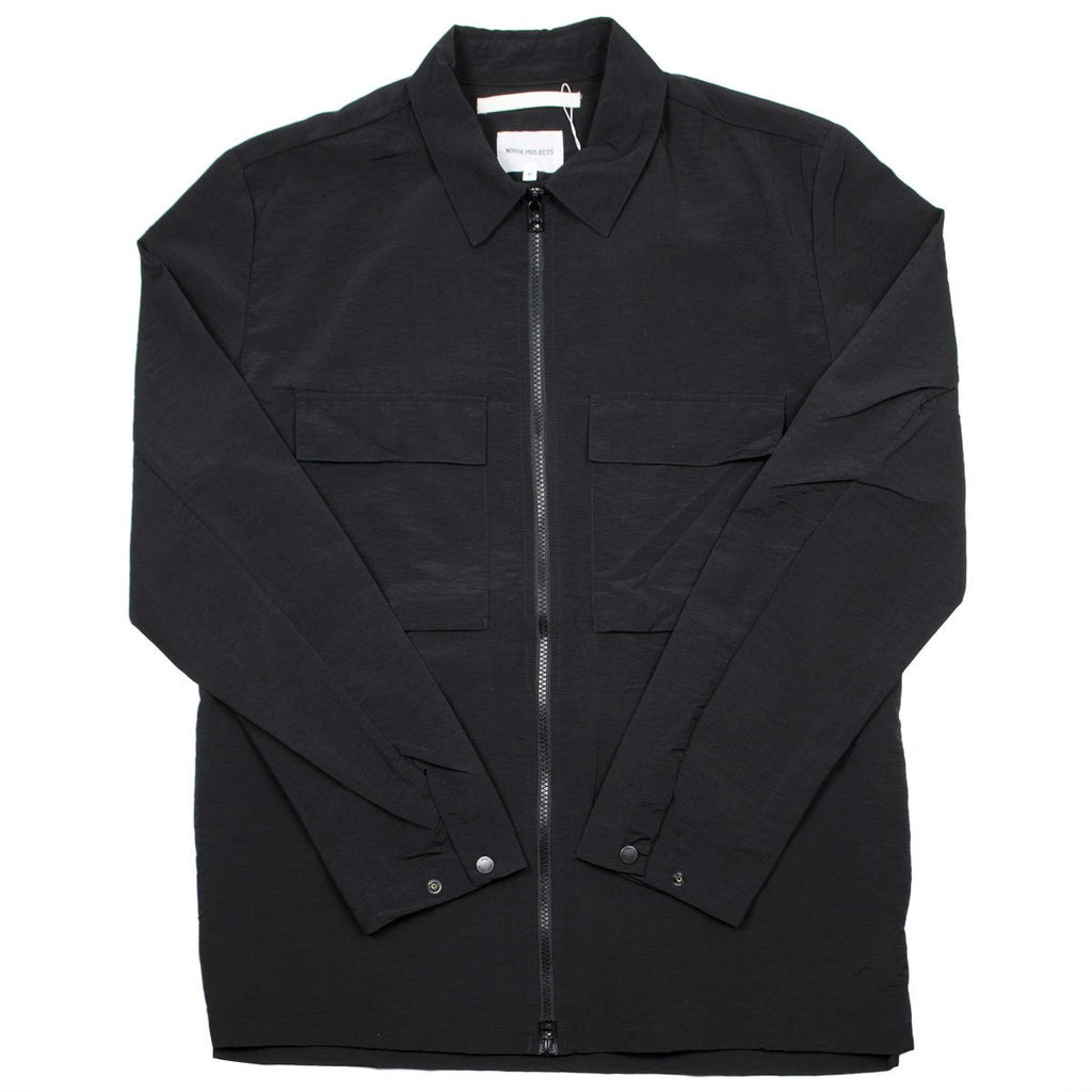 Norse Projects - Jens Zip Shirt - Black