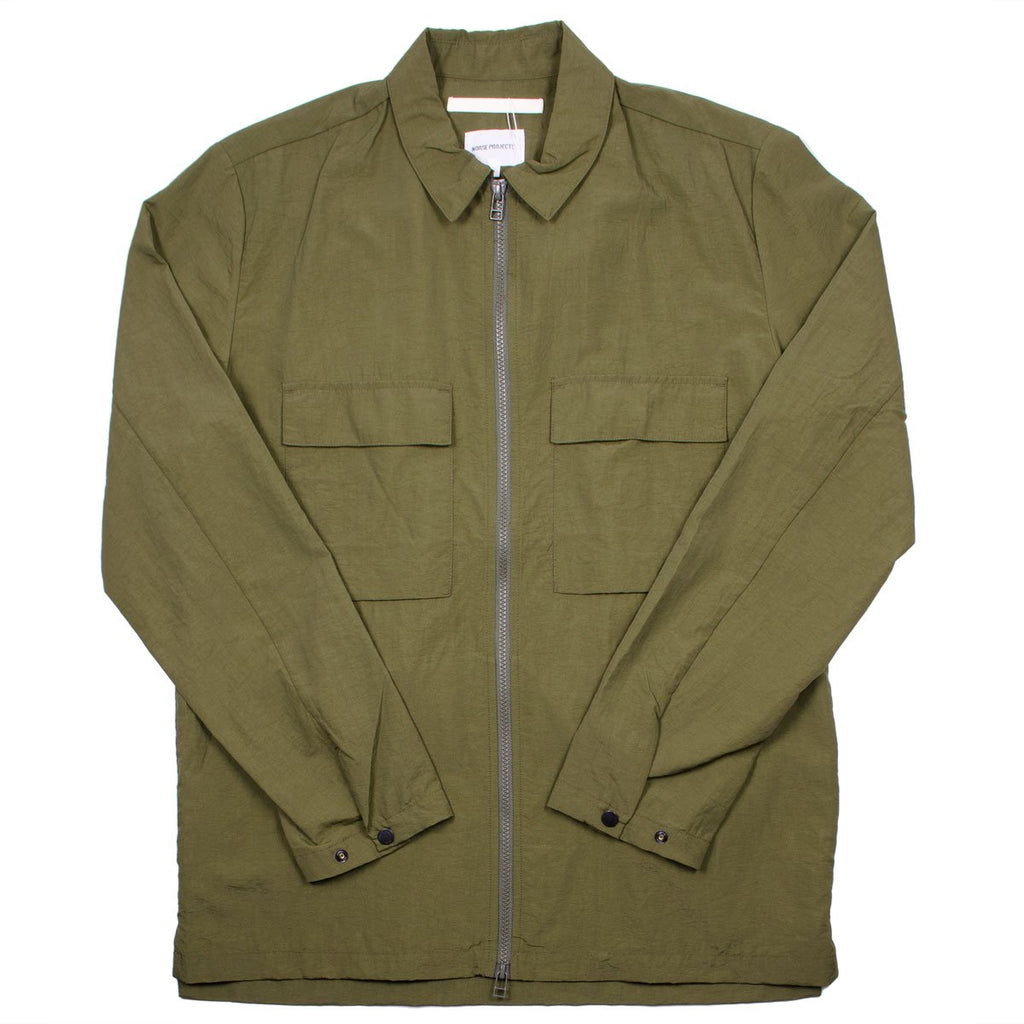 Norse Projects - Jens Zip Shirt - Ivy Green