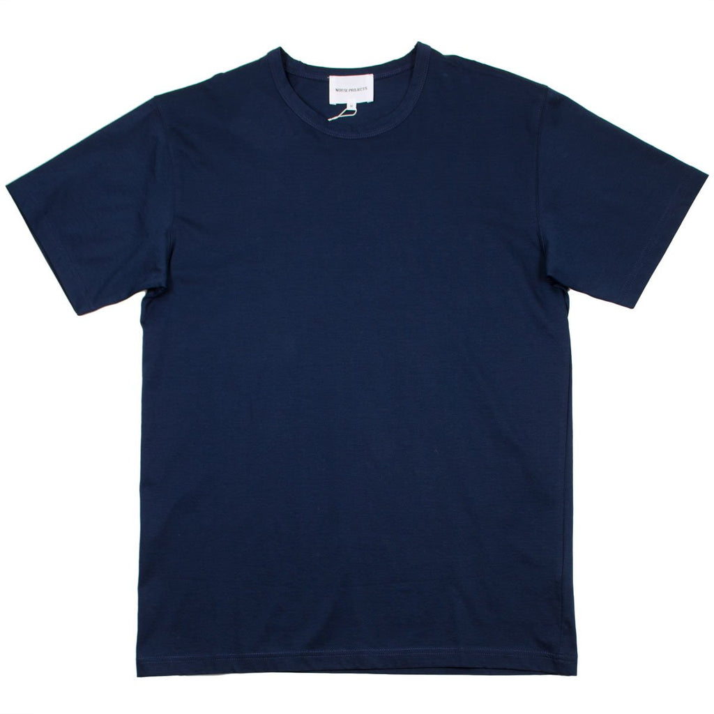 Norse Projects - Jesper Mercerized T-shirt - Navy