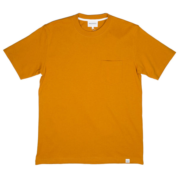 Norse Projects - Johannes Pocket T-shirt - Cadmium Orange