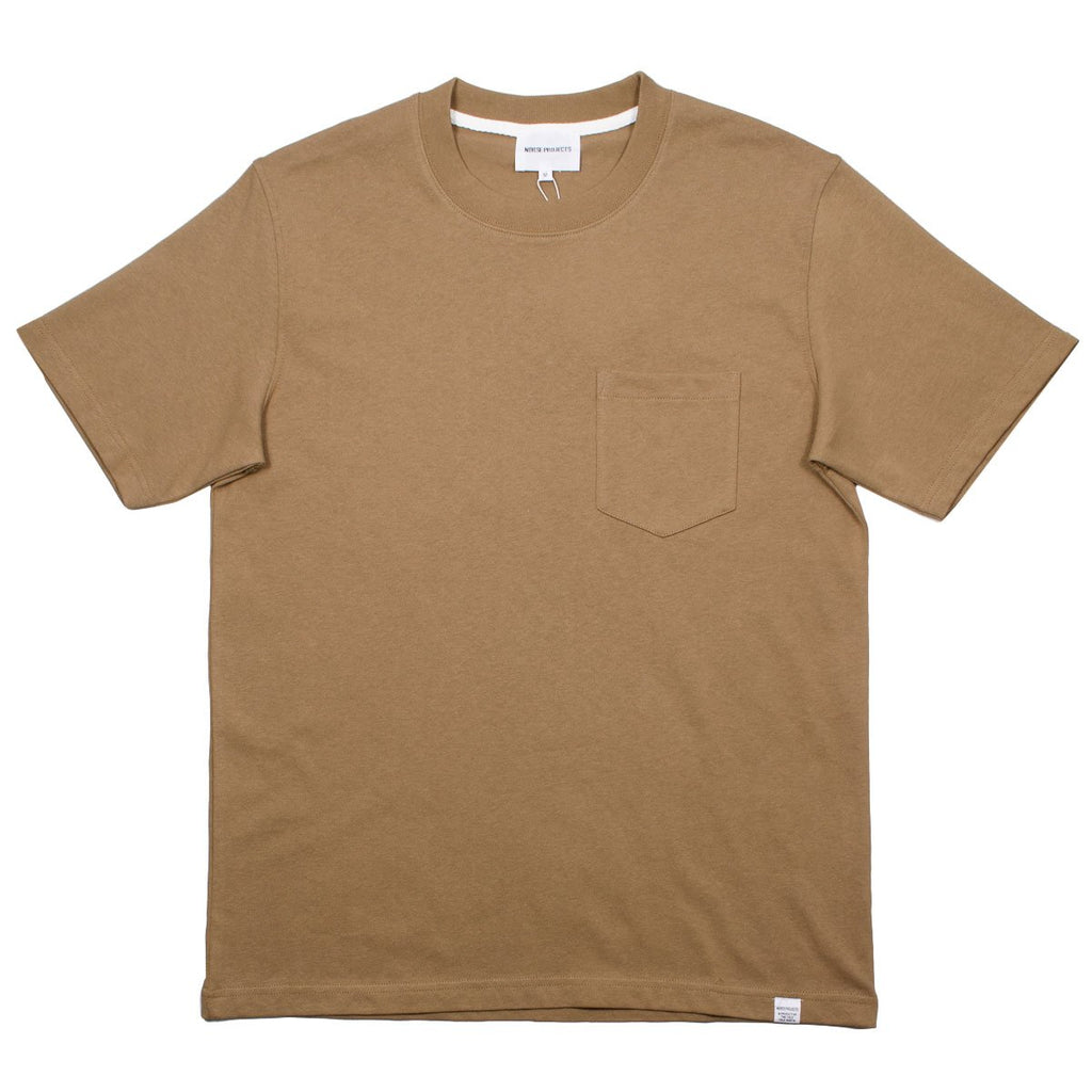 Norse Projects - Johannes Pocket T-shirt - Camel