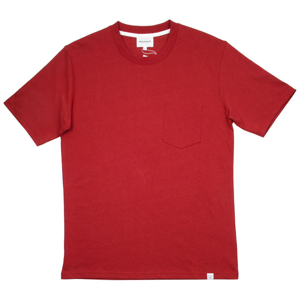 Norse Projects - Johannes Pocket T-shirt - Carmine Red