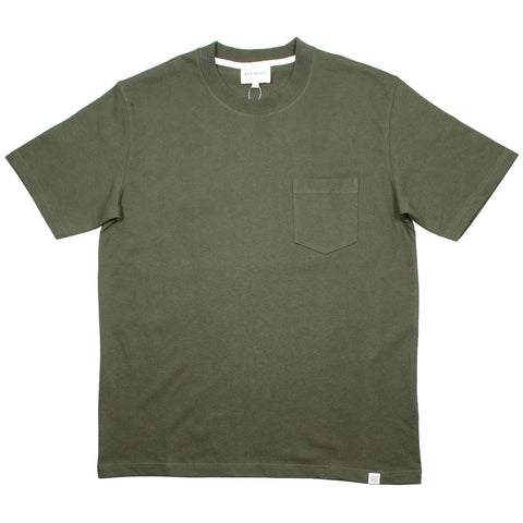 Norse Projects - Johannes Pocket T-shirt - Ivy Green