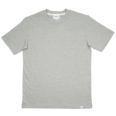 Norse Projects - Johannes Pocket T-shirt - Light Grey Melange