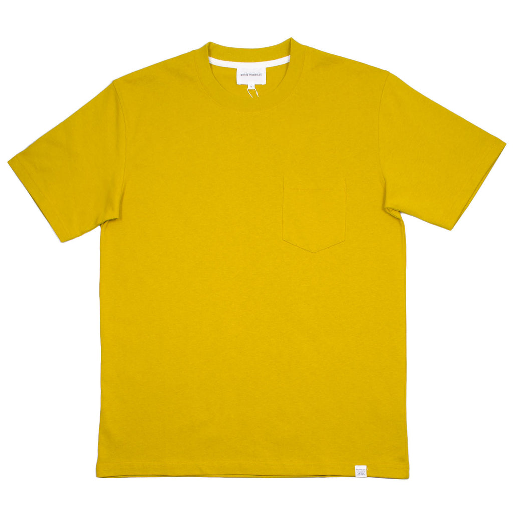 Norse Projects - Johannes Pocket T-shirt - Montpellier Yellow