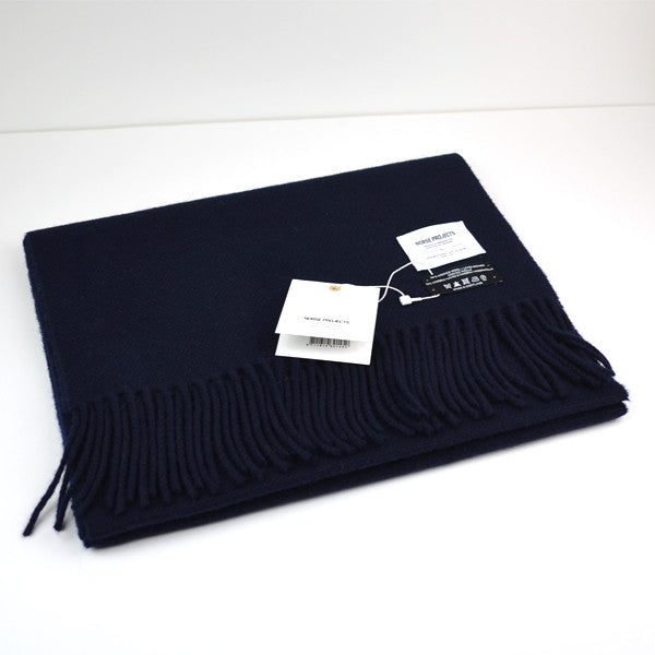 Norse Projects x Johnstons - Hop Sack Scarf - Dark Navy