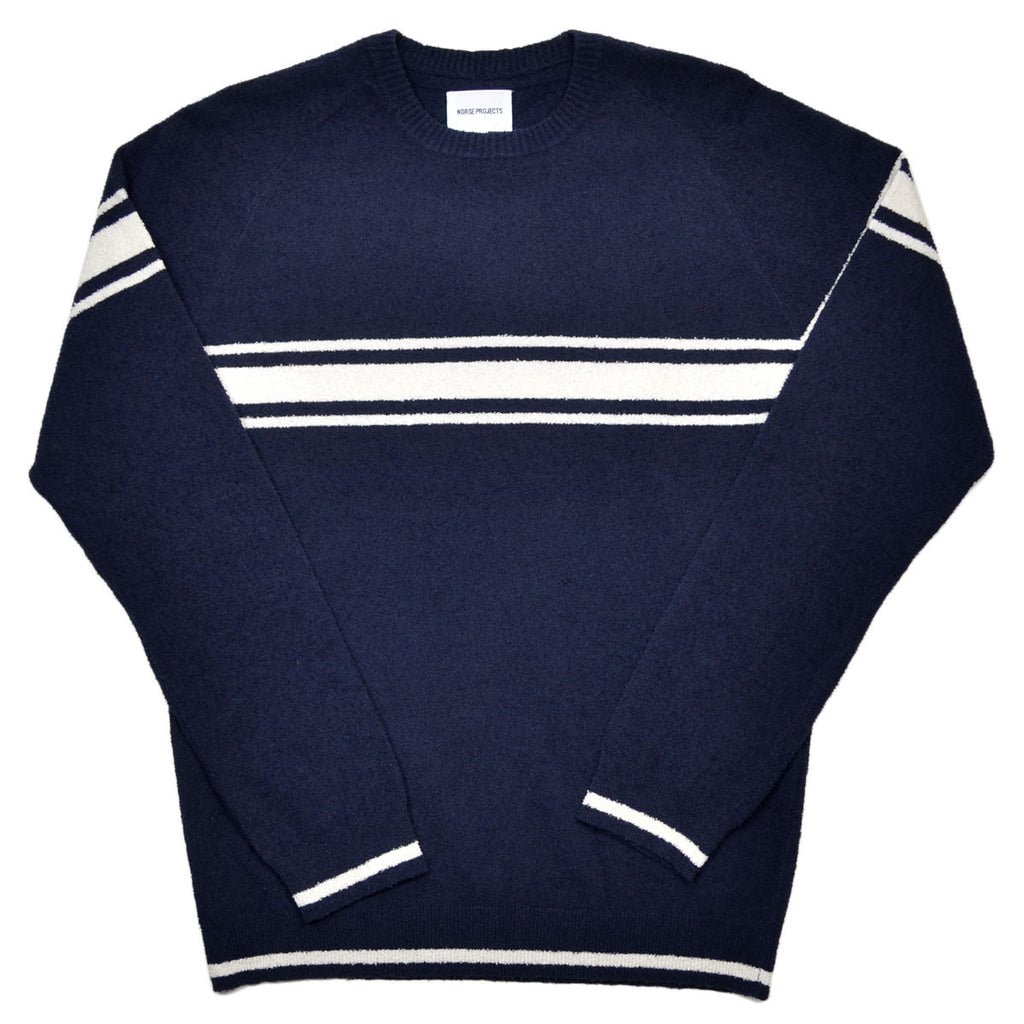 Norse Projects - Karl Slub Cotton Stripe Sweater - Dark Navy