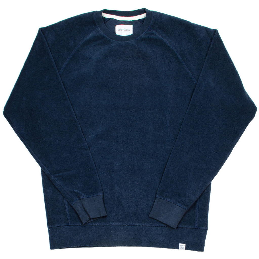 ada56ae5e63 Norse Projects - Ketel Solid Brushed Sweatshirt - Navy – BEAUBIEN