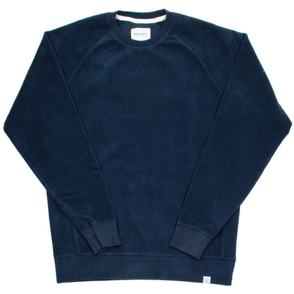 Norse Projects - Ketel Solid Brushed Sweatshirt - Navy