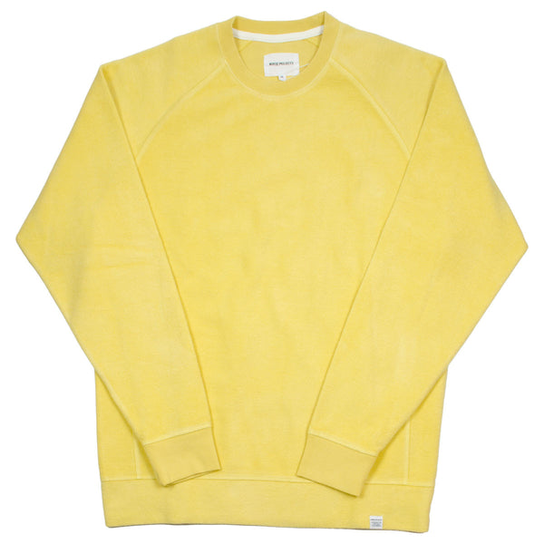 Norse Projects - Ketel Solid Brushed Sweatshirt - Strand Yellow