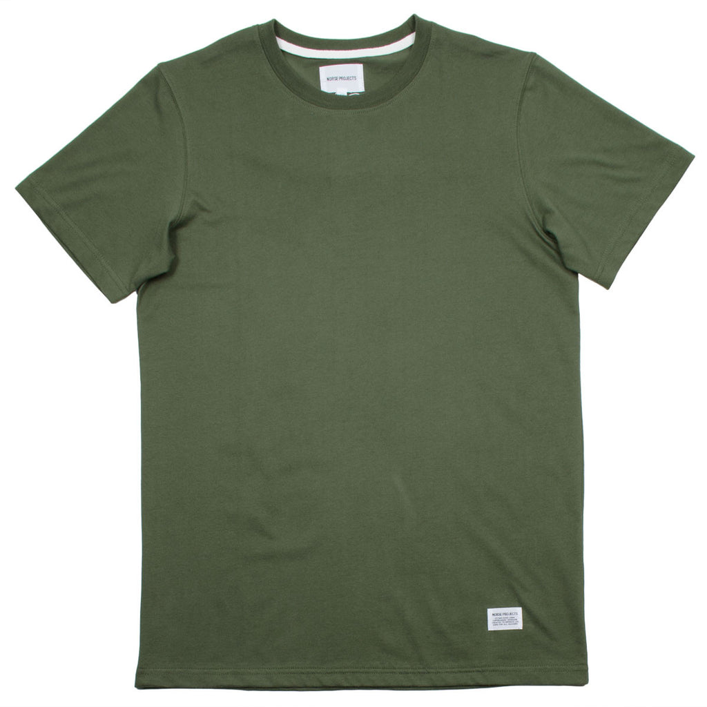 Norse Projects - Niels Basic T-shirt - Dried Olive