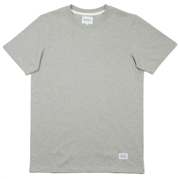 Norse Projects - Niels Basic T-shirt - Light Grey Melange