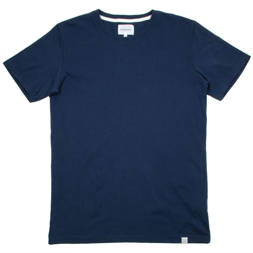 Norse Projects - Niels Bouclé T-shirt - Navy