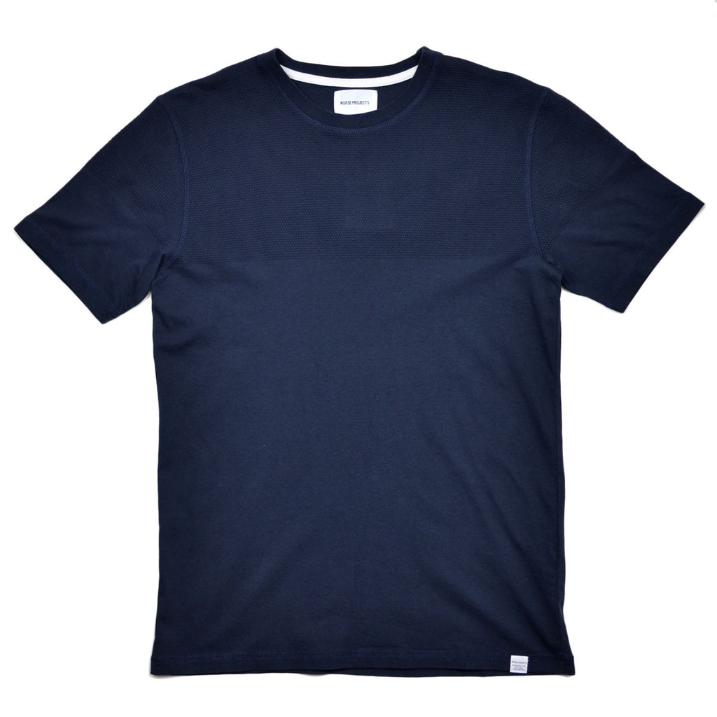Norse Projects - Niels Bubble T-shirt - Dark Navy