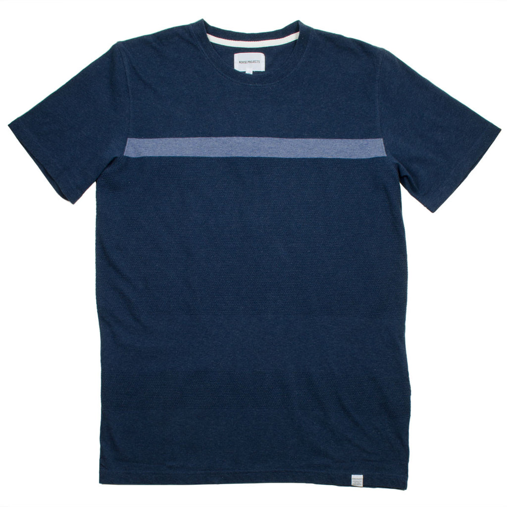 Norse Projects - Niels Bubble T-shirt - Navy Mélangé
