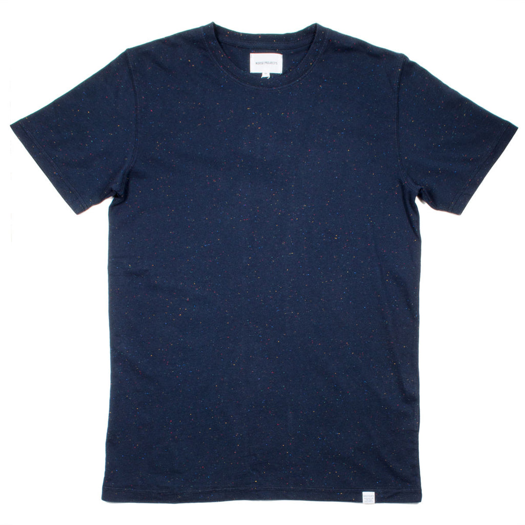 Norse Projects - Niels Classic Bouclé T-shirt - Navy