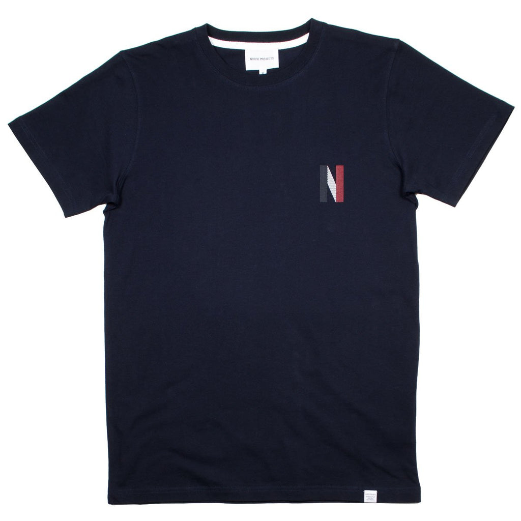 Norse Projects - Niels Multi Logo T-shirt - Dark Navy