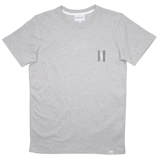 Norse Projects - Niels Multi Logo T-shirt - Light Grey Melange