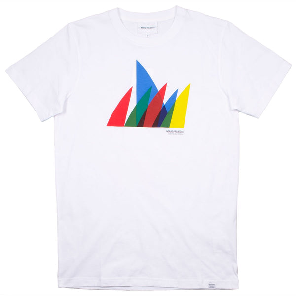 Norse Projects - Niels Spinnaker Logo T-shirt - White