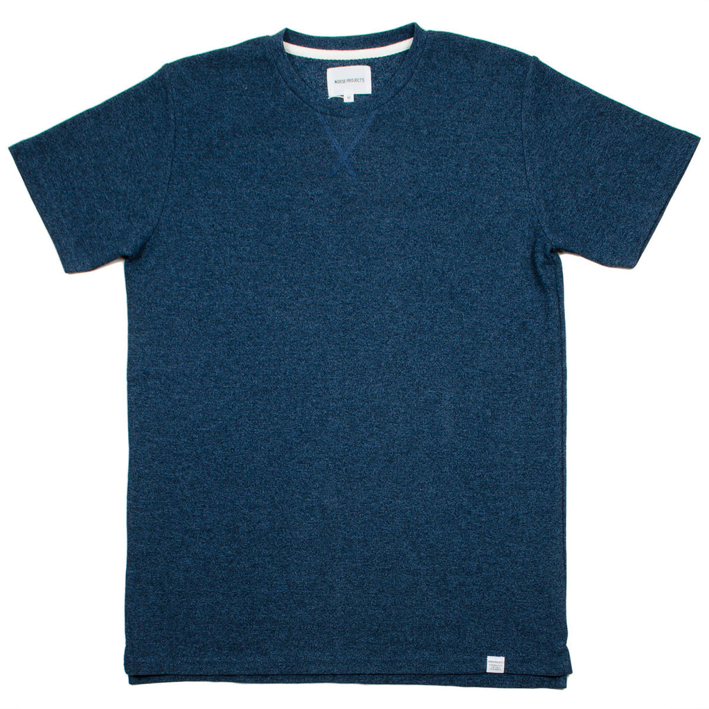 Norse Projects - Niels Sport Waffle T-shirt - Boundary Blue / Navy