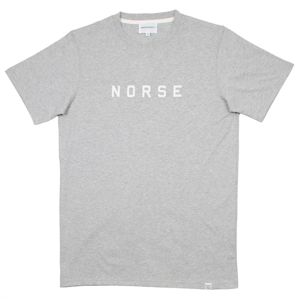 Norse Projects - Niels Standard Logo T-shirt - Light Grey Melange