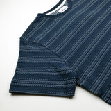 Norse Projects - Niels Texture Stripe T-shirt - Dark Navy