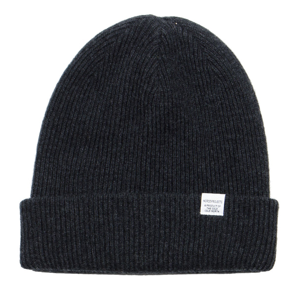 Norse Projects - Norse Beanie - Charcoal Melange