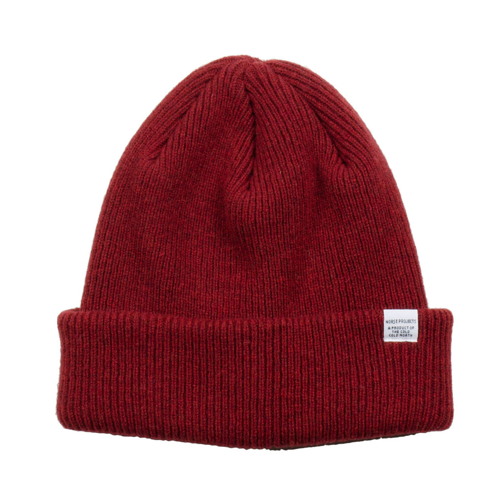 Norse Projects - Norse Beanie - Red Clay