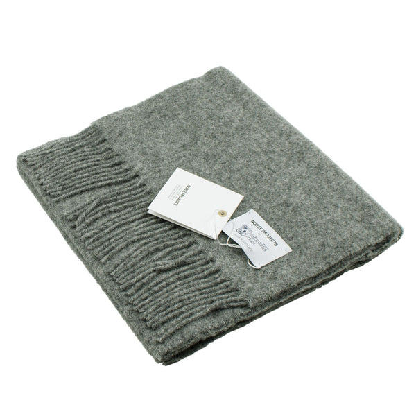 Norse Projects x Johnstons Lambswool Scarf - Mouse Grey Melange