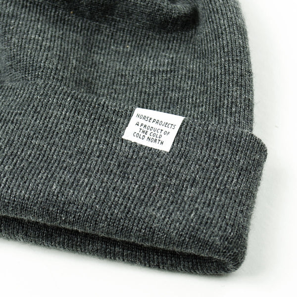 b2cd4113ad6c8 Norse Projects - Norse Top Beanie - Charcoal Melange – BEAUBIEN