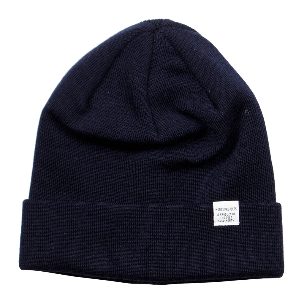 3c55ad966f5 Norse Projects - Norse Top Beanie - Dark Navy – BEAUBIEN