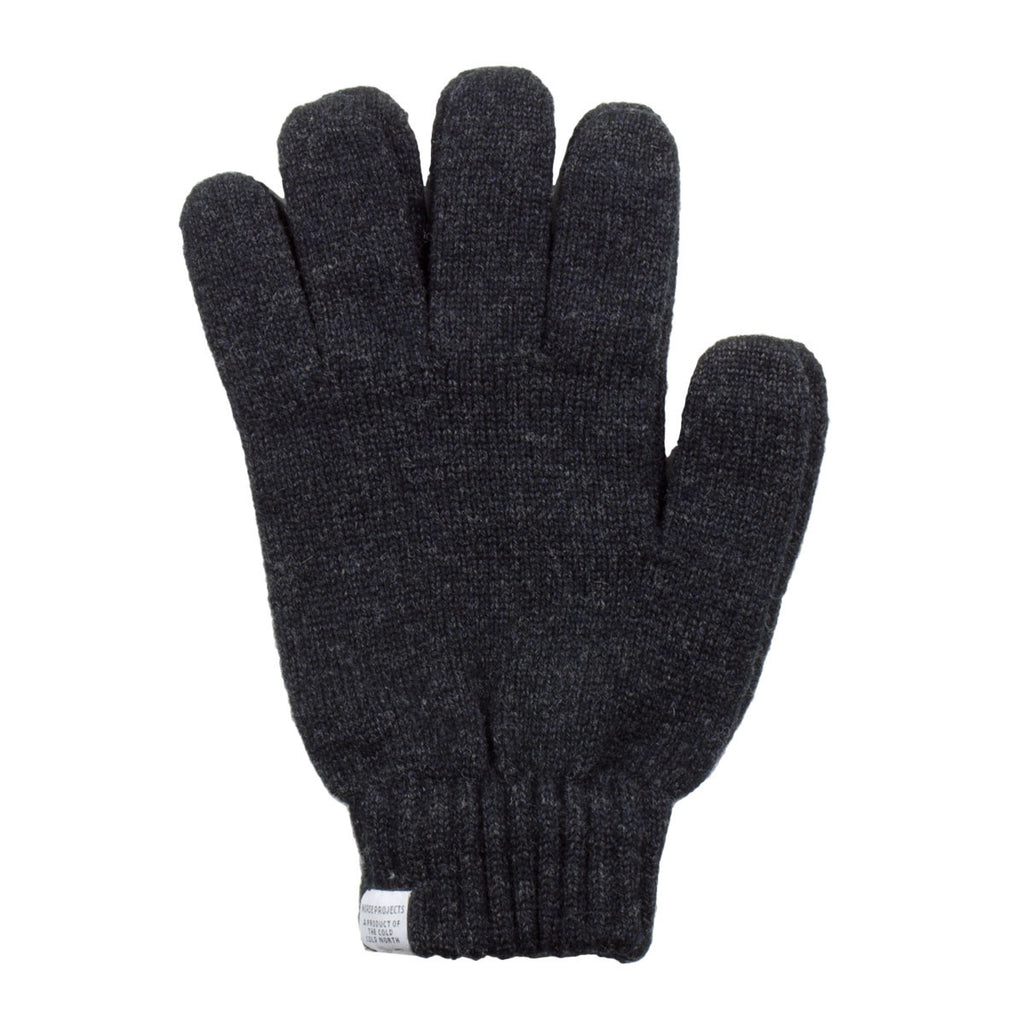 Norse Projects - Norse Wool Gloves - Charcoal Melange