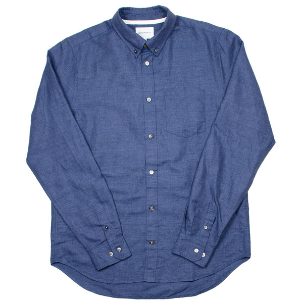 Norse Projects - Osvald BD Cotton Linen Melange Shirt - Dark Navy