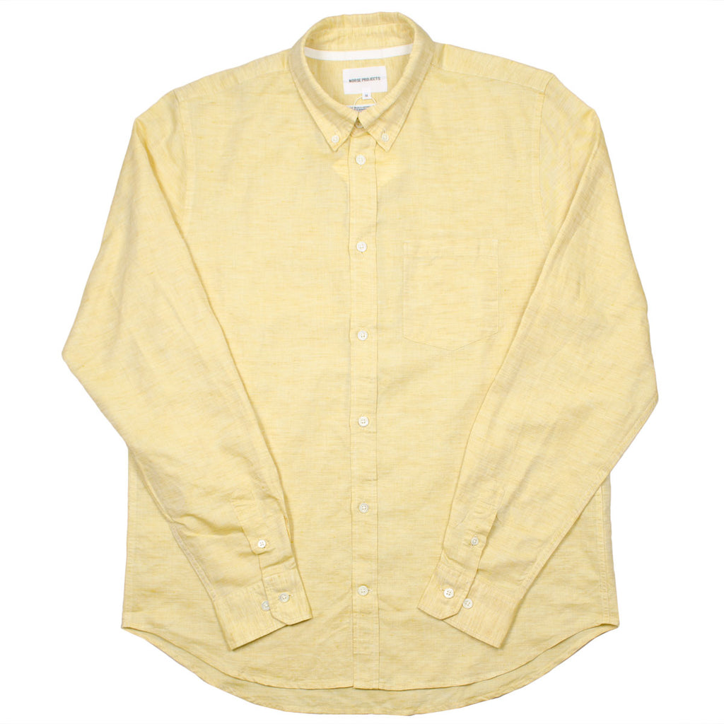 Norse Projects - Osvald BD Cotton Linen Shirt - Sunwashed Yellow