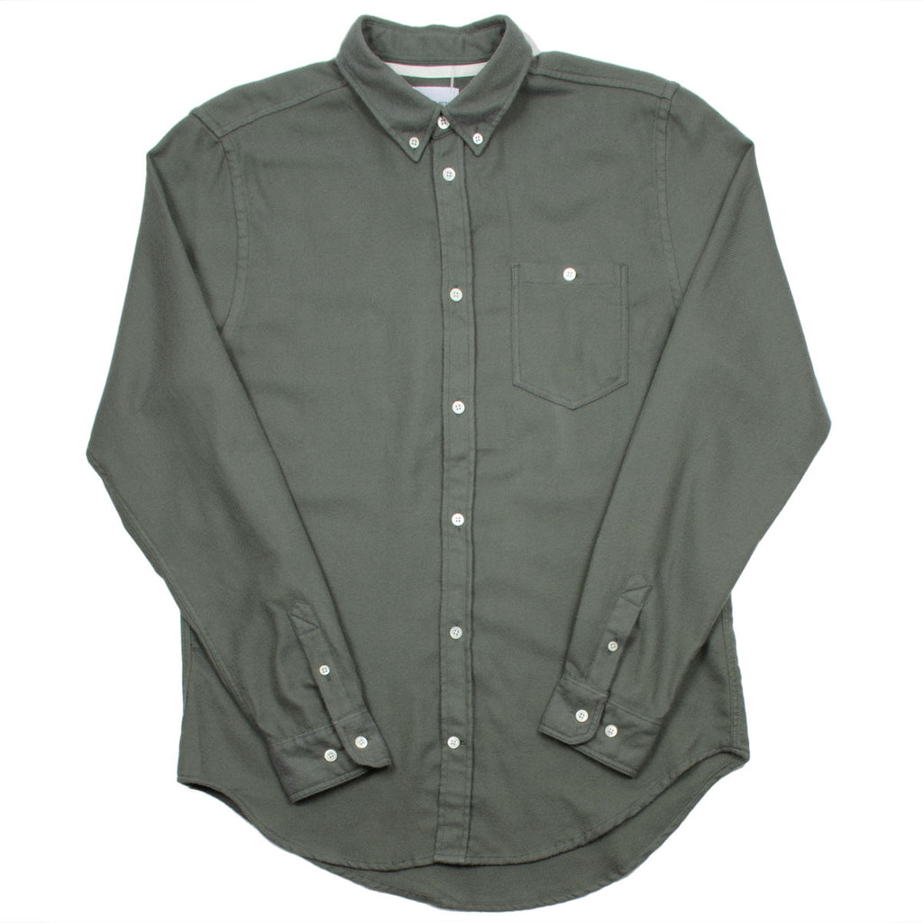 Norse Projects - Osvald Brushed Shirt - Dried Olive