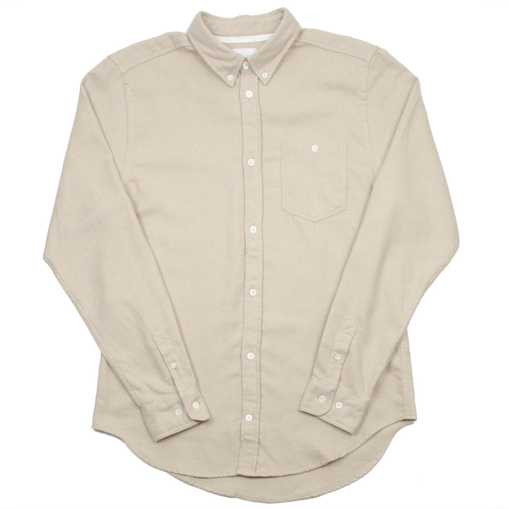Norse Projects - Osvald Brushed Shirt - Khaki (Beige)