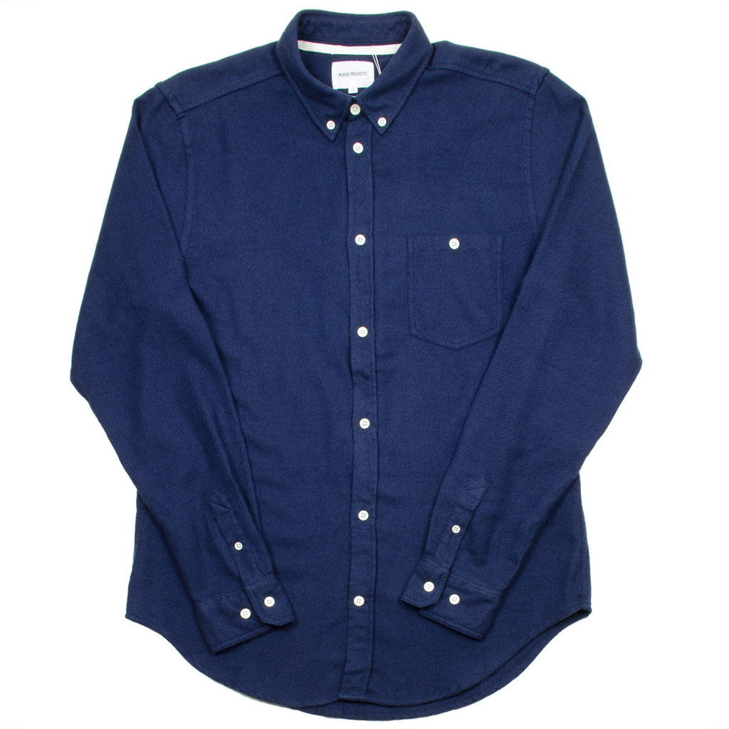 Norse Projects - Osvald Brushed Shirt - Navy